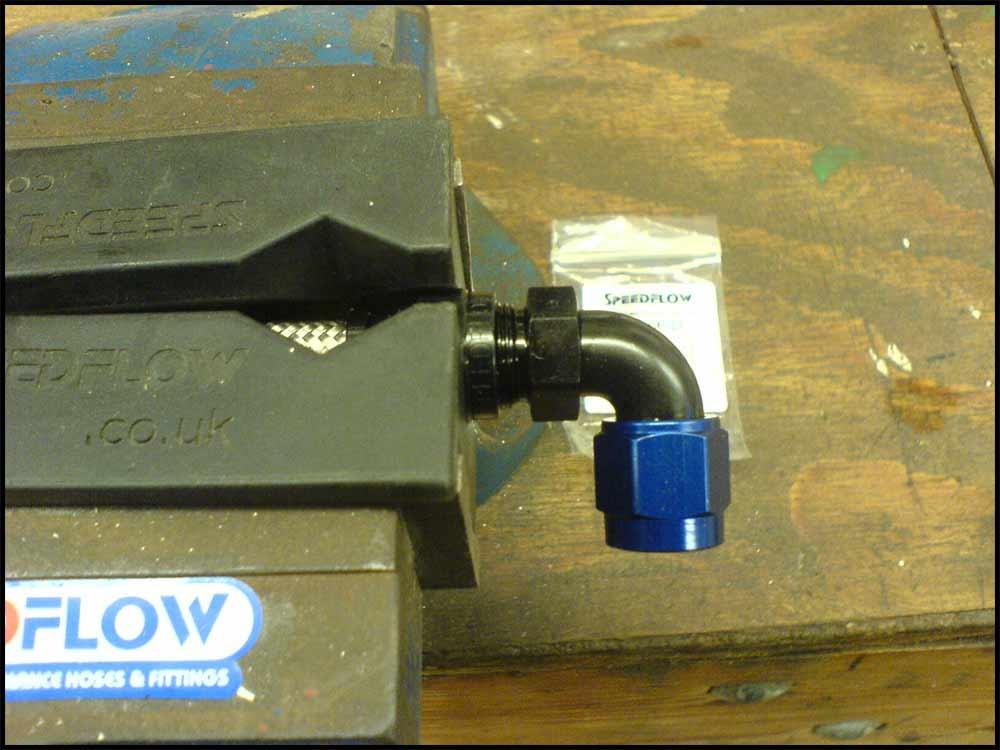 install Teflon hose fittings, tighten socket nut